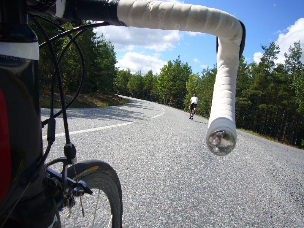 Johan har legat på hjul ända fram till backen innan Pålamalm
