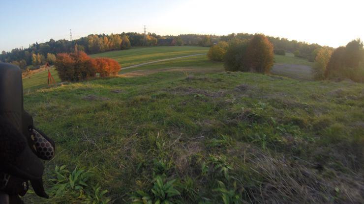 Utsikten från kullen bakom klocktornet.